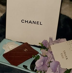 CHANEL Caviar Quilted Card Holder